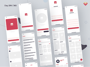 eCommerce Wireframe Kit iOS: eBlocks