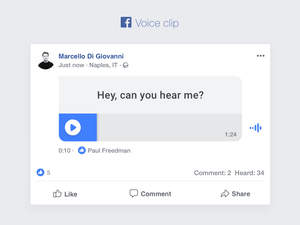 Facebook Voice Clip Sketch Resource