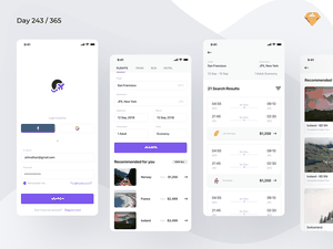 Flight Booking App Concept