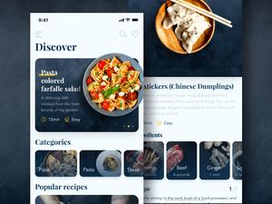 Recipes App Screens Sketch Resource