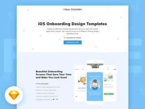 iOS Onboarding Design Sketch Templates