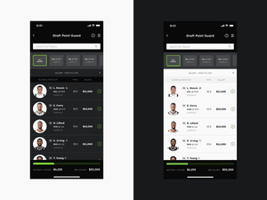 Praftkings App Redesign Concept.