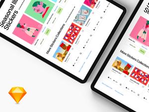 Stickers Shop App UI
