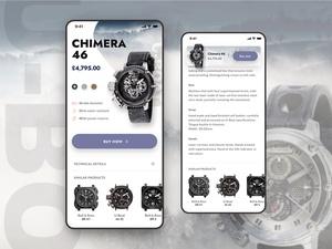 Luxury Watches Store App Concept
