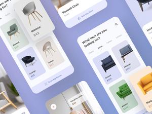 Furniture App UI Kit Sketch Resource