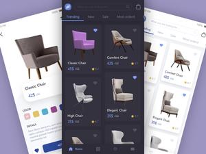 Furniture App Presentation Concept Sketch Resource