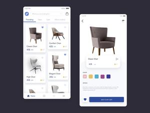 Chair Store App Concept