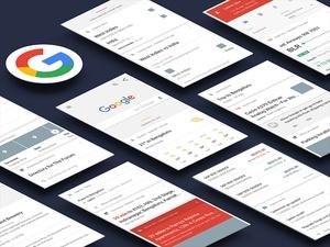 Google Now - UI Kit Sketch Resource
