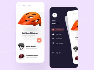 Helmets App Shop Concept Sketch Resource