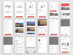 Hotel Booking App Concept Sketch Resource