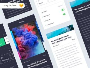 iNews – iOS App UI Kit