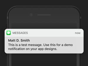 iOS 10 メッセージ バナー