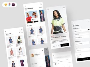 Sports Jersey Shop App Concept