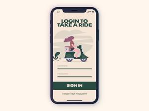 Scooter App Login Screen