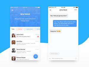 メッセージ チーム アプリの UI