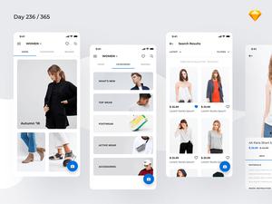 Minimal Fashion App Concept