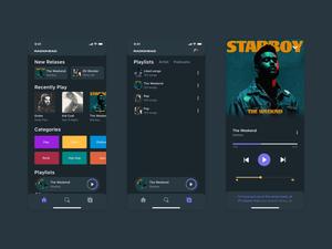 Music App UI/UX Design