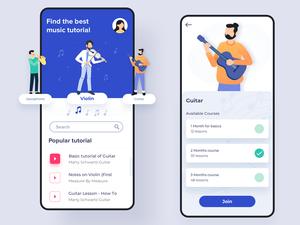 Music Tutorial App Concept