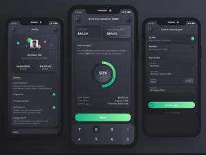 Neumorphic Budget Planner UI Kit Sketch Resource