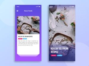News Feeds App Concept