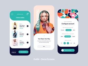 Fashion UI Kit Demo – Outfitr