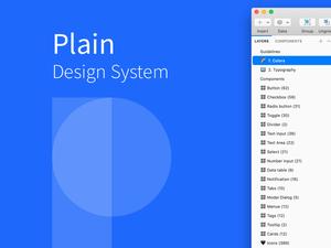 Plain Design System Sketch Resource