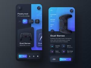 Playstation 5 DualSense App Concept Sketch Resource
