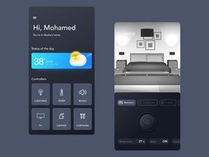 Smart Home Automation Controller App UI