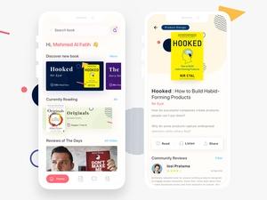 Book Reviews Mobile App UI