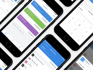 Sample iOS and Android Bank App Sketch Resource