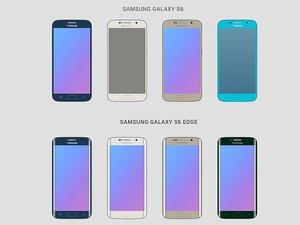 Samsung Galaxy S6 Wireframes Sketch Resource