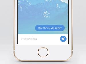 Send Message Interaction – Sketch & Flinto