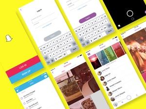 Snapchat UI Sketch Resource