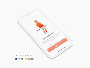 Sports App Onboarding – Sketch & Flinto