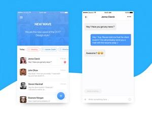 Team Messaging App Sketch Resource