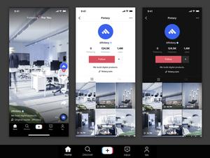 TikTok App GUI Sketch Resource
