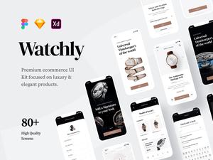 Luxury Ecommerce UI Kit Sample – Watchly