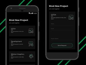 Start New Project Screen