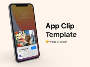 Sketch用のアプリ クリップ テンプレート