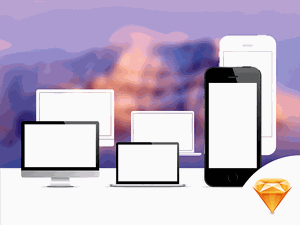 Apple devices Sketch Resource