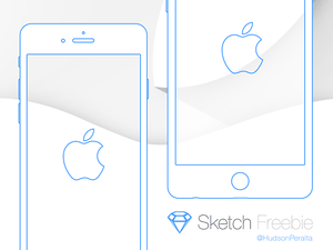 iPhone 6 and 6 Plus Wireframe Sketch Resource