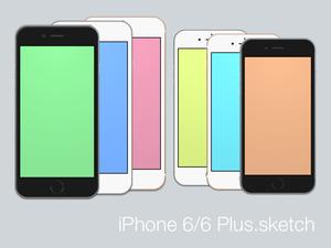iPhone 6 および 6 プラス Sketch リソース