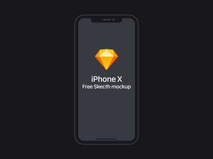 Black iPhone X Sketch Resource