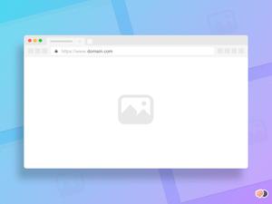 Minimal Browser Mockups Sketch Resource