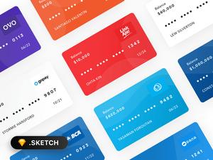 銀行カードテンプレート