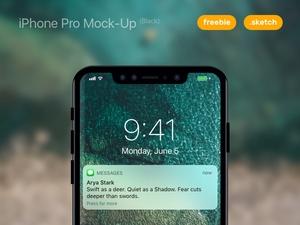 iPhone Pro Black Mockup