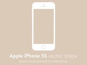 Apple iPhone 5S Vector Shape SVG Resource