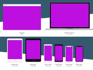 Flat Device Mockups Sketch Resource
