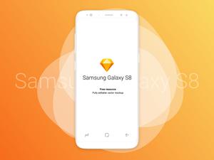 Samsung Galaxy S8 Mockup White
