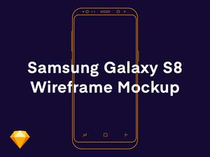 Samsung Galaxy S8 Wireframe Sketch Mockup
